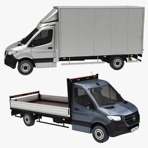 mercedes sprinter box truck 3D model