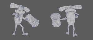 clown character animations 3D
