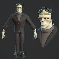 Frankenstein monster cartoon character base mesh
