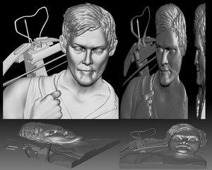 portrait bas-relief shape cnc 3D model