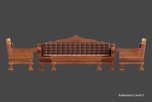 modelling sofa leather model
