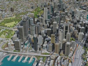 3D sydney city