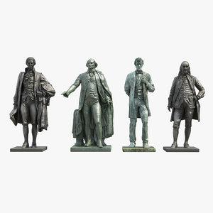 3D model fathers statues