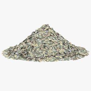 dollar bills pile banknotes model