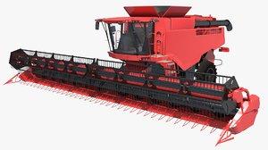 3D model track combine harvester