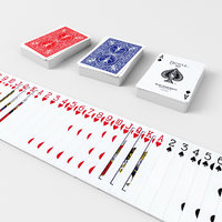 Playing Cards BICYCLE - Poker Card Set 1 - single textures