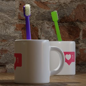toothbrush cup tooth 3D model