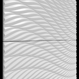 3D model wall tile design twist