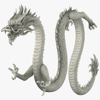 Chinese Dragon v3 Rigged