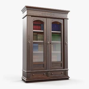 victorian bookcase 3D