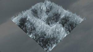 winter forest 3D