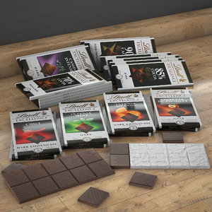 lindt excellence chocolate 3D model