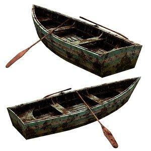 3D boat skiff