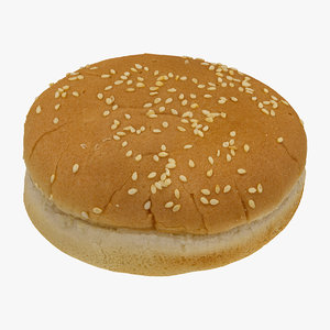 3D hamburger bun 01 raw