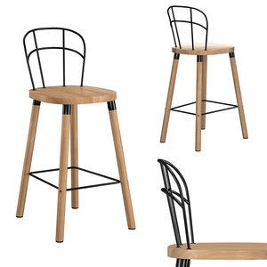 3D partridge bar chair model