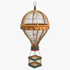 3D vintage hot air balloon