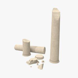 columns greek order 3D model