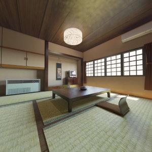 3D japanese tatami living room model