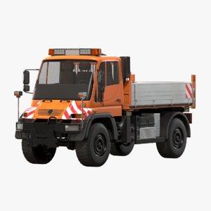 3D model dump truck unimog industrial