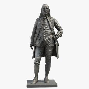 franklin statue 3D model