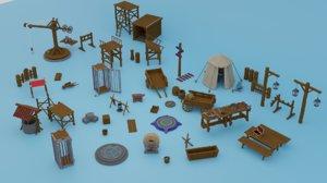 set 80 pieces 3D