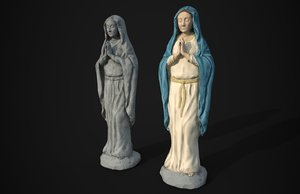 3D statue saint mary