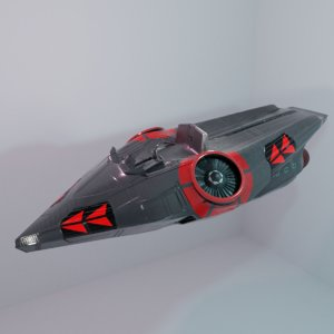 futuristic motor 3D model