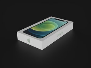 3D apple iphone 12 box model
