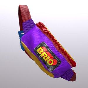 3D model 90s fannypack