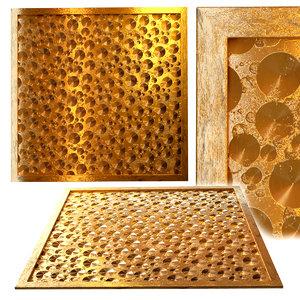3D model decorative panel