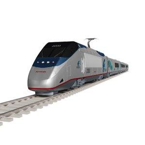 acela express train amtrak 3D