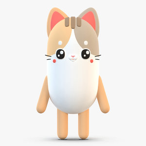 3D model cute cartoon cat 2