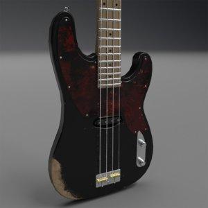 bass guitars 3D