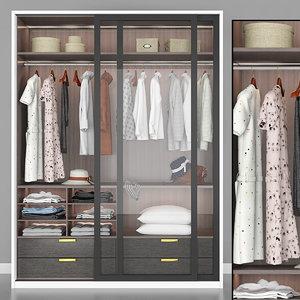 3D wardrobe t model