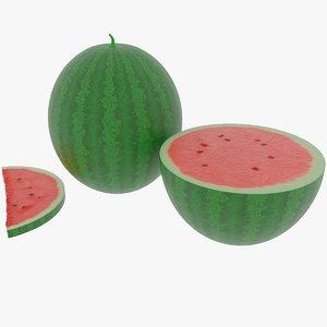3D model watermelon materials