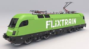 3D model siemens taurus flixtrain