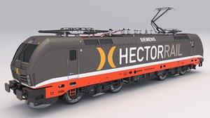 3D siemens vectron hector rail