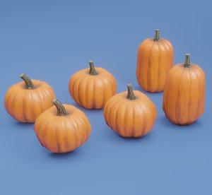 pumpkins set 3D model