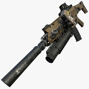 3D rifle color black version