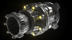 3D thruster spaceship large fusion