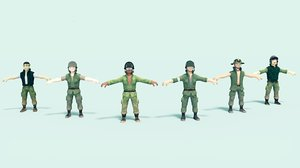 3D soldiers character