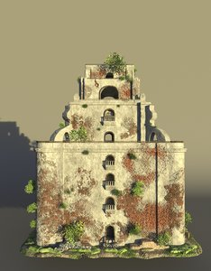 sinking bell tower model