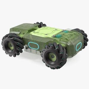 3D model mini tank drone base