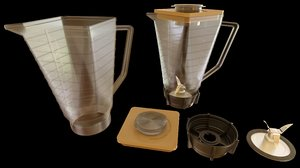 3D vintage blender pitcher jar
