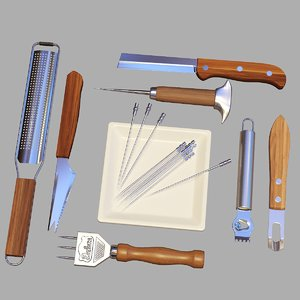 3D model bartender tools set 07
