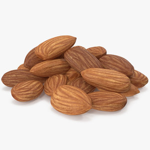 3D almond nuts