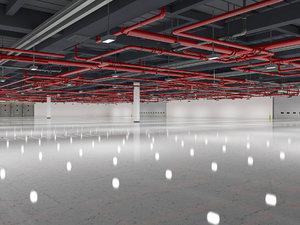 exhibition hall interior 3D