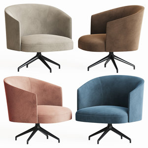 lena swivel lounge chair 3D model