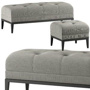 seat pouf ottoman model