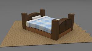 3D stilized bed